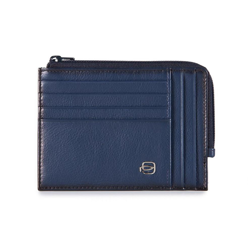 Чехол для кредитных/визитных карт Piquadro Vibe, цвет синий, 12,5х9,5х1 см (PU1243ED/BLU)