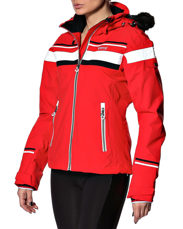 Женская горнолыжная куртка 8848 Altitude Carlin красная (668703) спереди