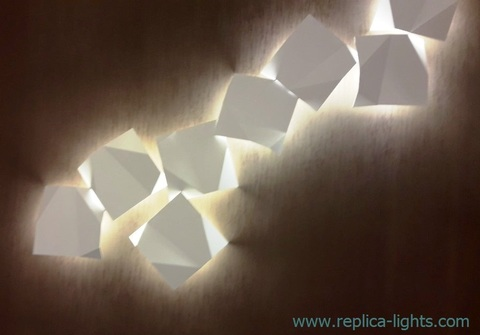 replica Origami 8 LED Wall sconce ( WHITE )