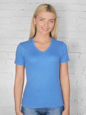 021-4 футболка женская, синяя