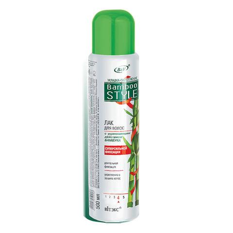 Витэкс Bamboo Style Лак для волос с укрепляющим действием бамбука суперсильной фиксации 500 мл