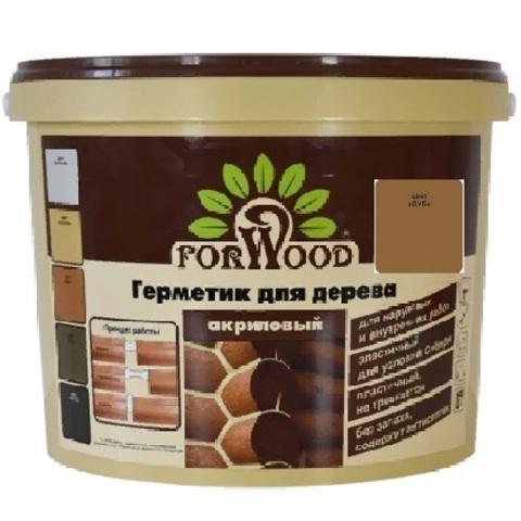 Forwood герметик для дерева и бетона акриловый для наружных и внутренних работ цвет дуб 14кг вд-ак 1501