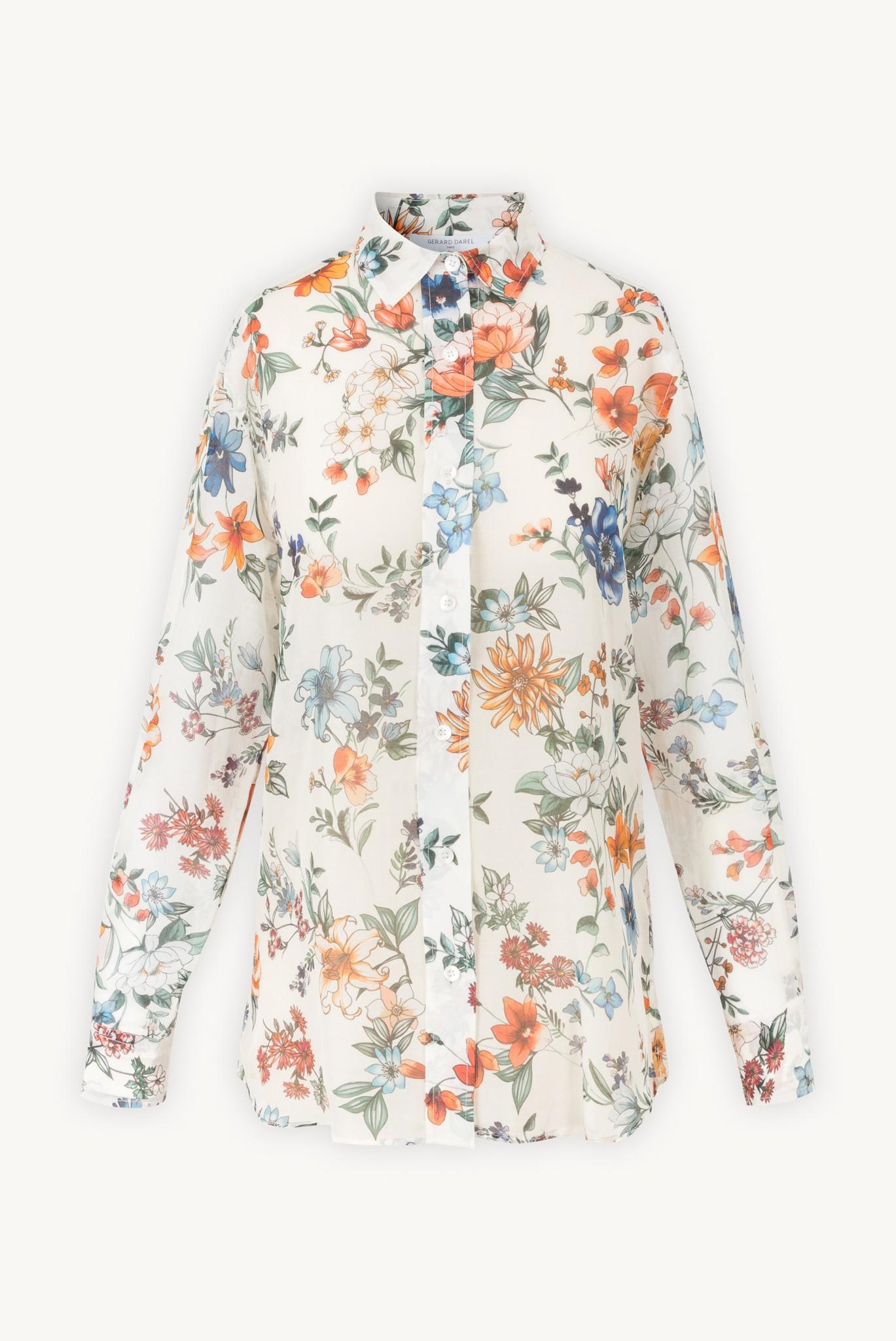 NESSA - Свободная рубашка с цветочным принтом