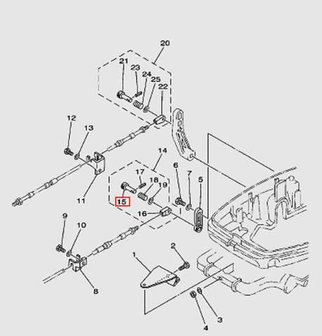 Штифт подсоединения троса ДУ2 Т30EР (13-15W)