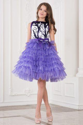 Пышное фиолетовое платье (арт.617 фио)