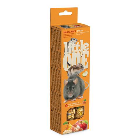 Little One палочки для хомяков, крыс, мышей и песчанок с фруктами и орехами 2шт*60 г