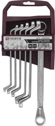 Набор ключей накидных 75° на пластиковом держателе 6-19 мм, 6 предметов