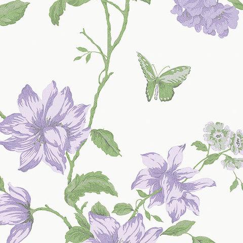 Обои Aura English Florals G34303, интернет магазин Волео