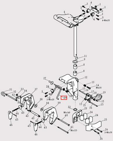 Рамка наклона для лодочного мотора F9.8 Sea-PRO (13-29)
