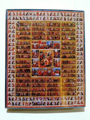 Икона Собор всех святых на дереве на левкасе мастерская Иконный Дом