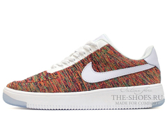 Кроссовки Мужские Nike Air Force 1 Low Flyknite White Multi