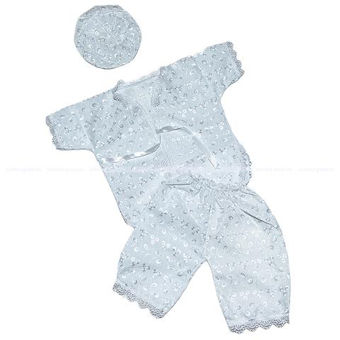 Крестильный набор 3 пред. шитье для мальчика (62-74) 5.6.ЖН13
