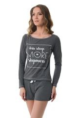 Женский комплект для дома или сна серого цвета