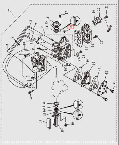 Заглушка для лодочного мотора T9.8 Sea-PRO (2-18)