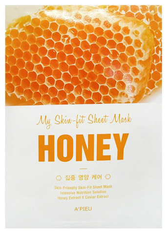 A'PIEU Tканевая маска для лица с экстрактом меда My Skin-Fit Sheet Mask Honey (25г)
