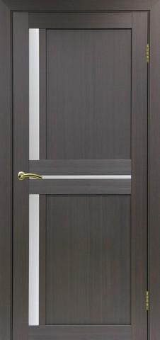 Дверь Optima Porte Турин 523.221, стекло Мателюкс, цвет венге, остекленная