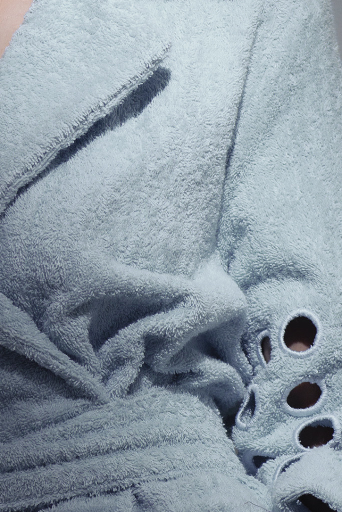 Махровый халат с английским воротником Luna di Giorno