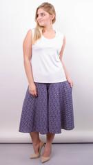 Лолита. Оригинальные шорты-юбка больших размеров. Пудра+абстракция.