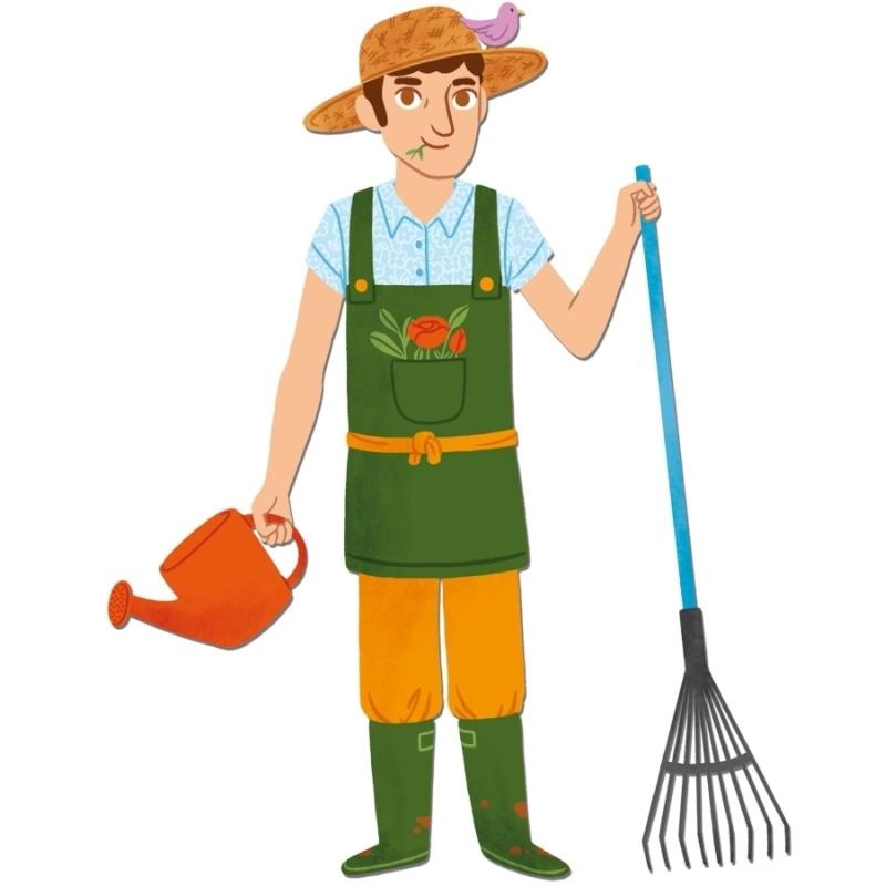 Картинка садовника для детсада, смешные