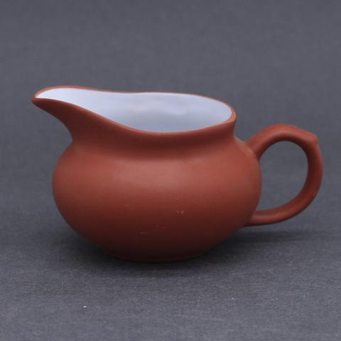 Сливник глинянный с глазуровкой внутри, рыжий, 120 мл