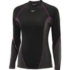 Женское термобелье рубашка Mizuno Virtual Body Crew black|grey (73CL041 86)