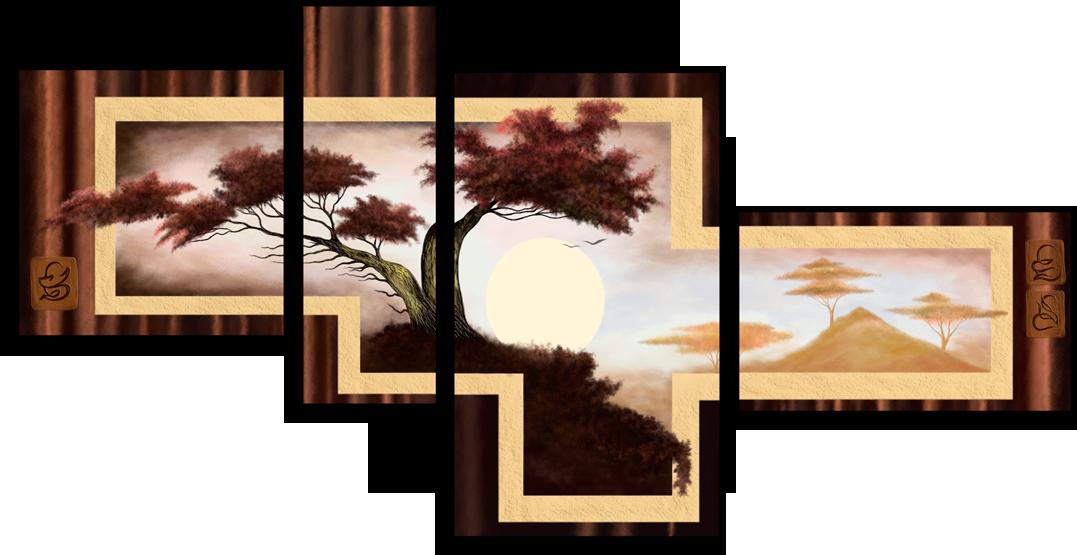"""Природа Модульная картина """"Жаркий рассвет"""" М2.png"""