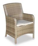 Кресло плетеное Миконос, светло-соломенное