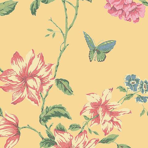 Обои Aura English Florals G34304, интернет магазин Волео