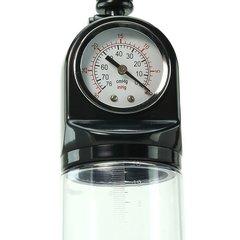 Мужская помпа с манометром  MASTER GAUGE PENIS PUMP (7 х 20 см.)
