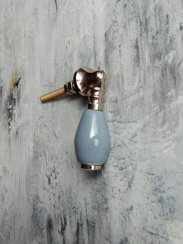Ручка мебельная керамическая серая