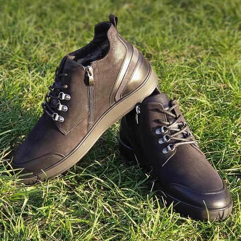 Городские теплые ботинки для мужчин