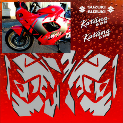 Набор наклеек на мотоцикл Suzuki Katana 600 1992