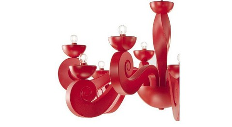 replica  Botero Pendant lamp 10 lights (red)