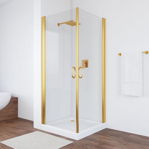 Душевой уголок Vegas Glass EA профиль золото, стекло прозрачное