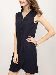 GDR001238 Платье женское. темно-синее