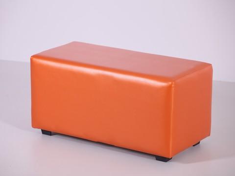 Пф-02 Пуфик прямоугольный (оранжевый) для дома и магазина
