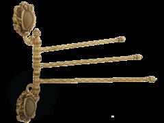 Полотенцедержатель тройной поворотный 35см. Migliore Cleopatra ML.CLE-60.754