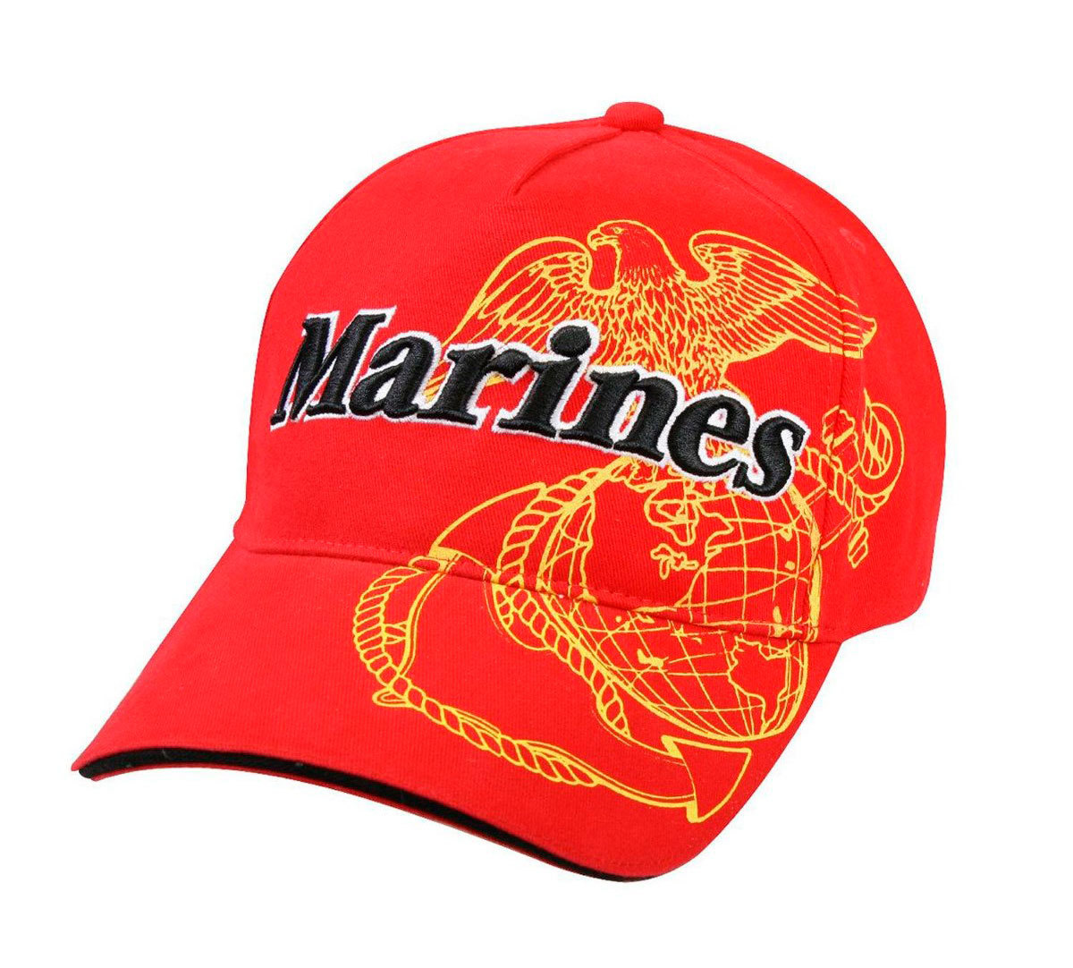 Кепка Deluxe Marines Eagle G&A Cap Rothco (красная - red)
