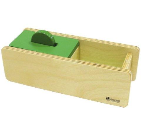 Коробочка с диском и перекидной крышкой, Монтессори-Питер