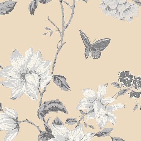 Обои Aura English Florals G34305, интернет магазин Волео