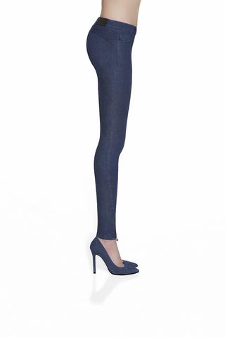 Темно-синие легинсы «под джинсы»