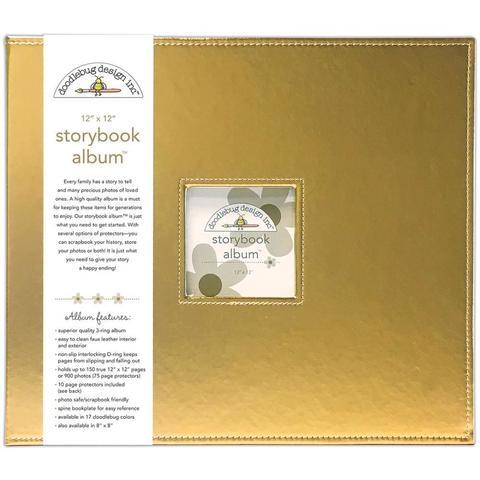 Папка на кольцах для Project Life 30х30 Doodlebug Storybook Album - экокожа