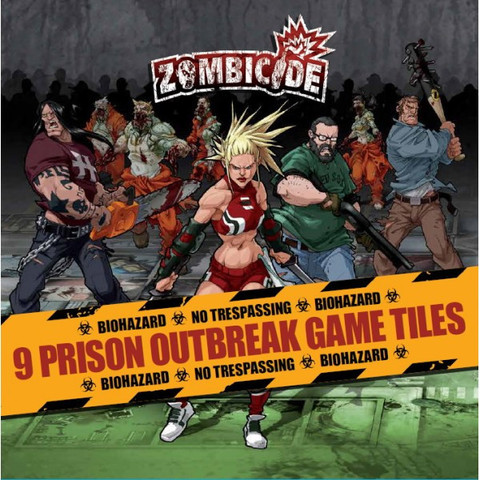 Zombicide Season 2 Prison Outbreak: 9 Double Sided Game Tiles