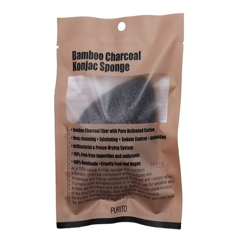 Спондж PURITO Bamboo Charcoal Konjac Sponge 7g