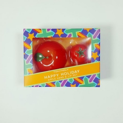 Подарочный набор Tony Moly Happy Holiday Apple Hand And Lip Set (Cherry Tomato)