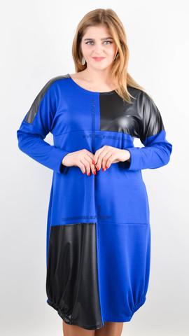 Джаз. Стильное платье большого размера. Электрик.