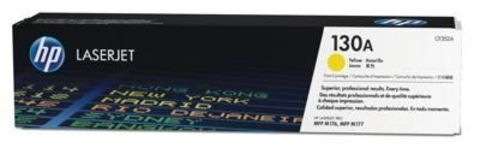Картридж HP CF352A (130A) для принтеров HP Color LaserJet Pro MFP M176n, M177fw (жёлтый, 1000 стр.)
