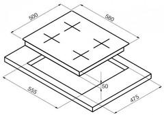 Варочная панель Korting HG 6115 CTRI схема