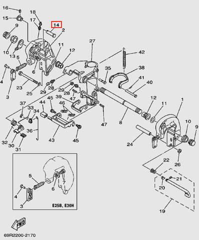Вал для лодочного мотора Т30 Sea-PRO (14-14)