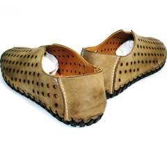 Модные мужские летние туфли Luciano Bellini 107703 Beige.